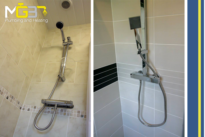 Showers Installed North Bury